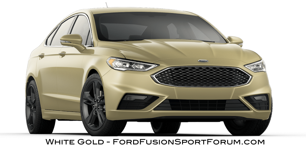 2020 Ford Fusion Sport - White Gold - 2020 Ford Fusion Sport Exterior ...